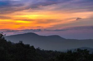 Sunset in Charlottesville Virginia